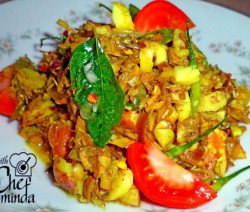 jackfruit seeds and Banana flower thick curry