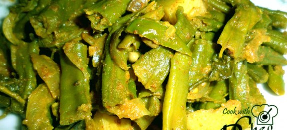 Long beans and Innala thick curry